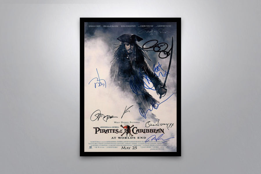 PIRATES OF THE CARIBBEAN: At World's End - Signed Poster + COA