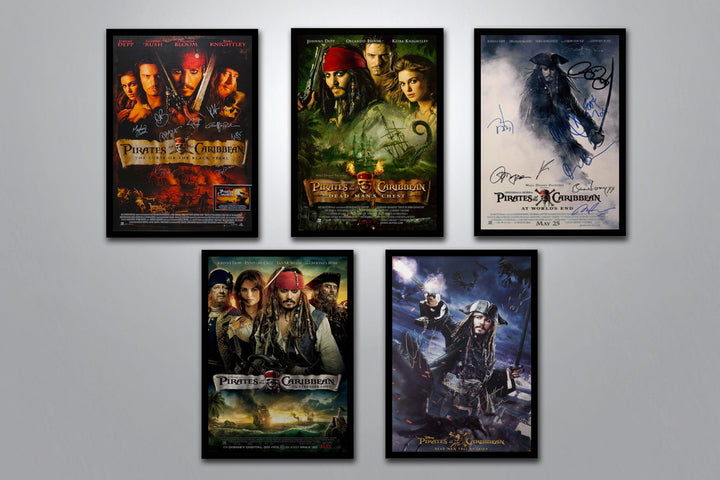 Pirates of the Caribbean Autographed Poster Collection