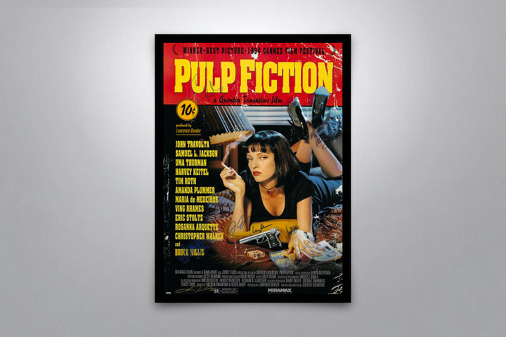 PULP FICTION - Signed Poster + COA - Poster Memorabilia
