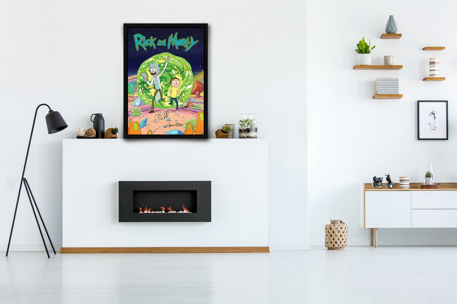 Rick and Morty -  Signed Poster + COA