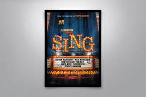 Sing - Signed Poster + COA
