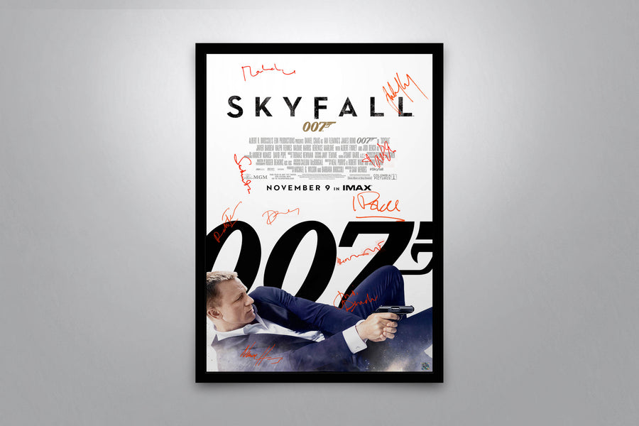 JAMES BOND: Skyfall - Signed Poster + COA