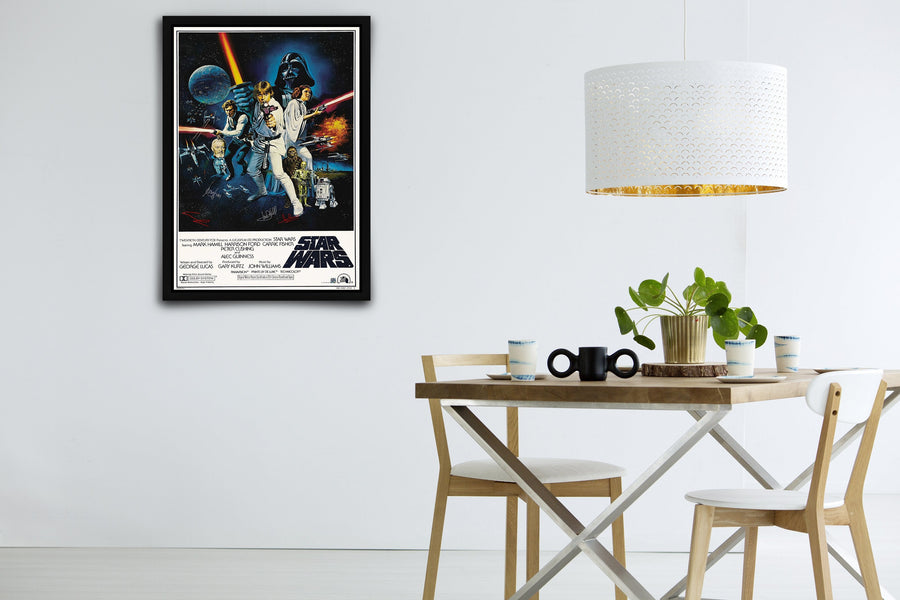 Star Wars: Episode IV - A New Hope - Signed Poster + COA