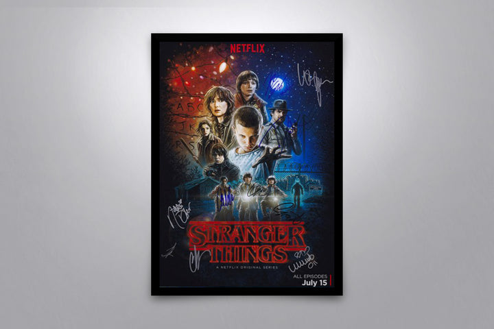 Stranger Things - Signed Poster + COA