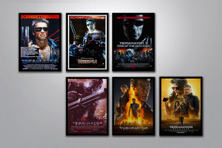 Terminator Autographed Poster Collection