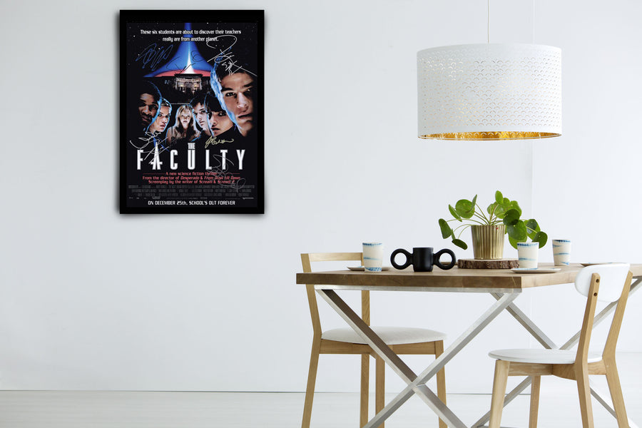 The Faculty - Signed Poster + COA
