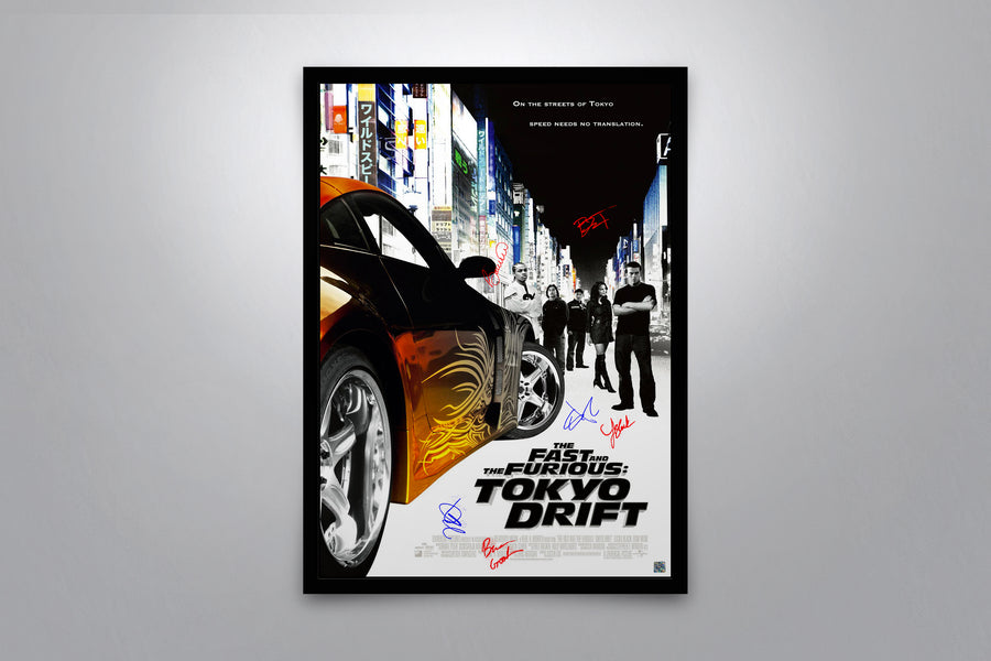 The Fast and the Furious: Tokyo Drift - Signed Poster + COA - Poster Memorabilia