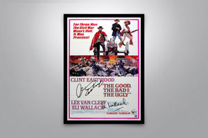 THE GOOD, THE BAD & THE UGLY - Signed Poster + COA - Poster Memorabilia
