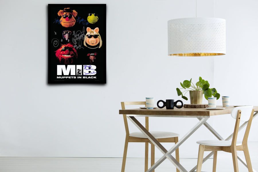 The Muppet Show: Muppets in Black - Signed Poster + COA