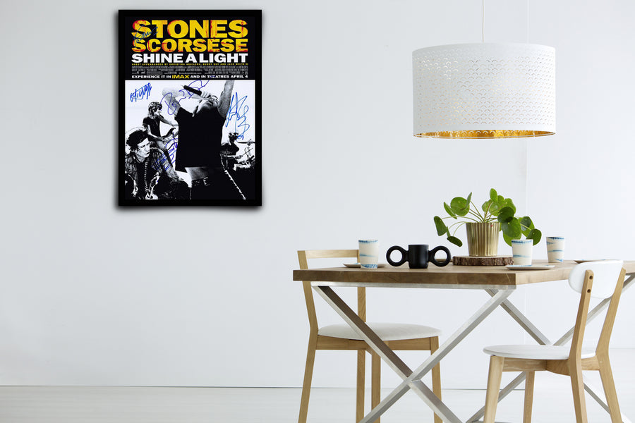 The Rolling Stones Shine a Light - Signed Poster + COA