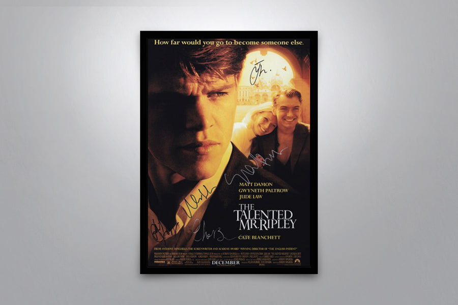 The Talented Mr. Ripley - Signed Poster + COA