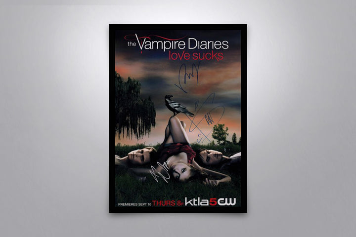 The Vampire Diaries - Signed Poster + COA