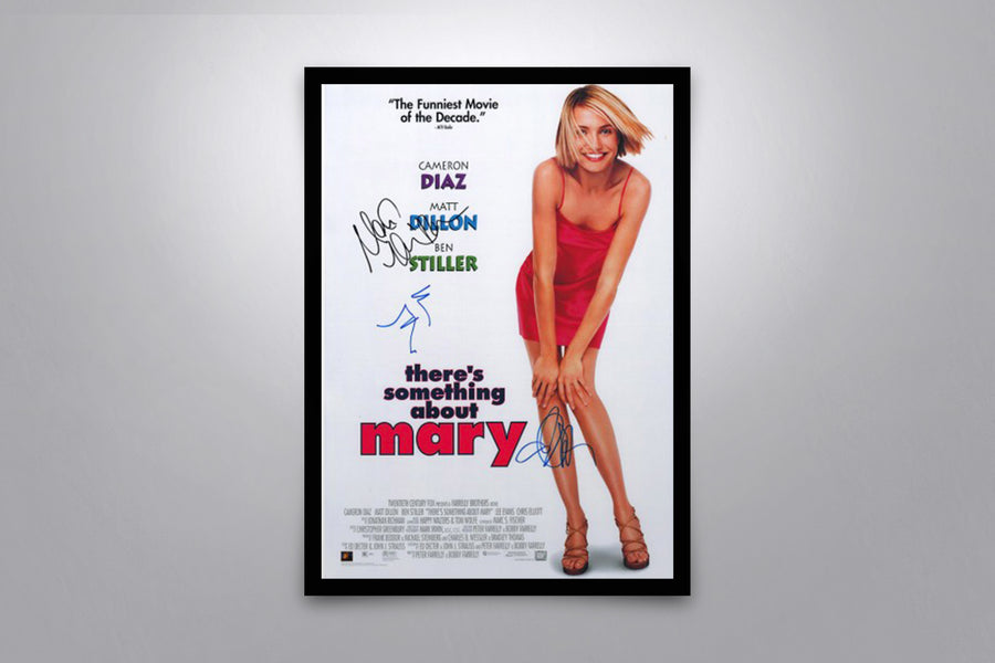 THERE'S SOMETHING ABOUT MARY - Signed Poster + COA