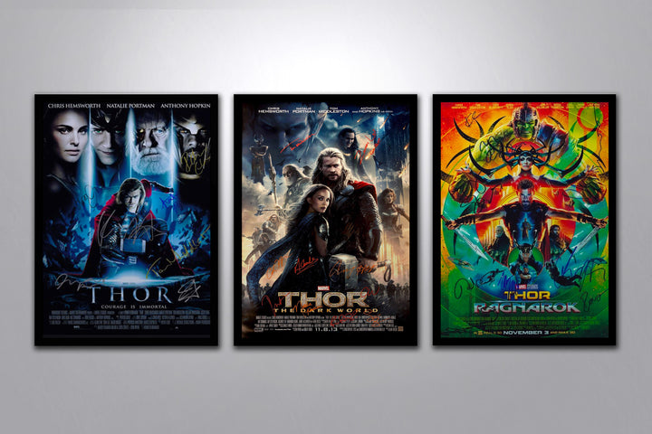 Thor Autographed Poster Collection - Poster Memorabilia