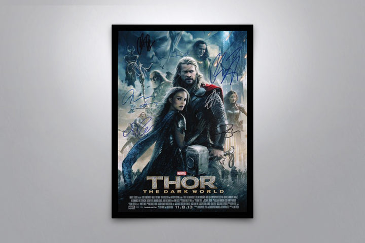 THOR: The Dark World - Signed Poster + COA