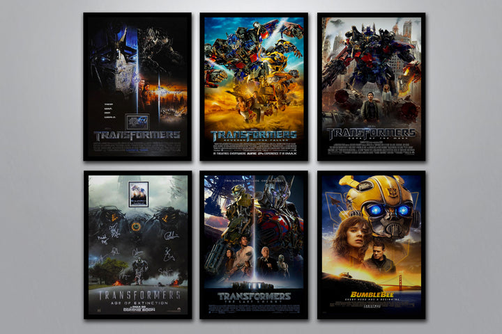 Transformers Autographed Poster Collection
