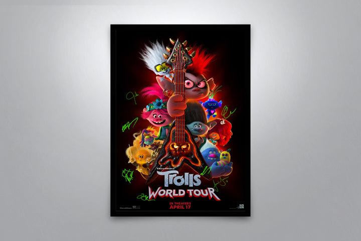 Trolls World Tour - Signed Poster + COA