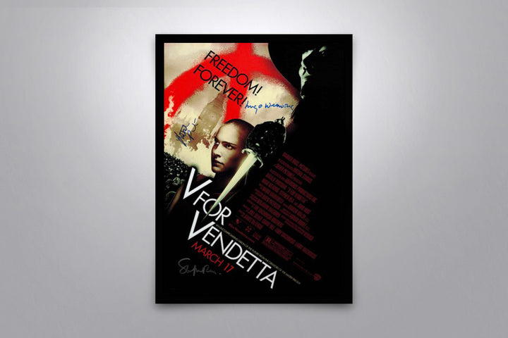 V for Vendetta - Signed Poster + COA