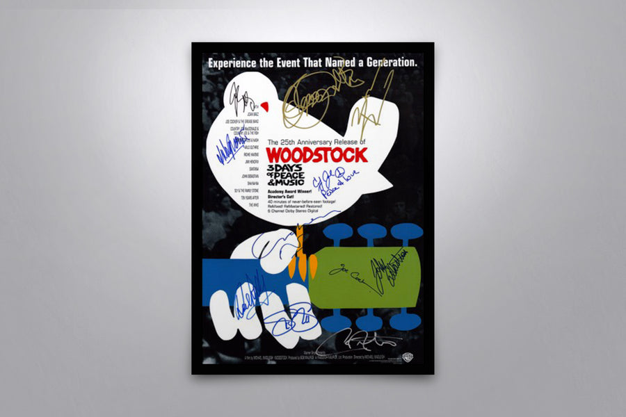 Woodstock 25th Anniversary 1994 - Signed Poster + COA