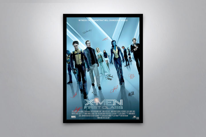 X-MEN: First Class - Signed Poster + COA