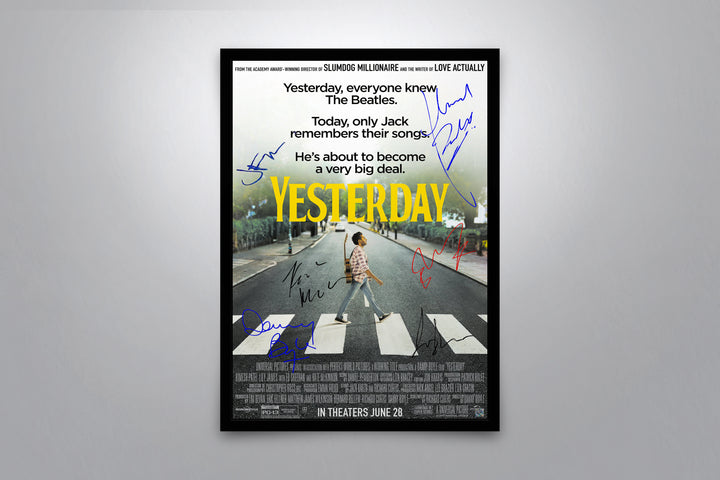 Yesterday - Signed Poster + COA