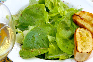 This Simple Butter Lettuce Salad with Tuscan Seasoning Vinaigrette takes 2-3 minutes to make and tastes fabulous!