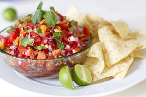 Salsa Fresca with Chipotle and Lime is quick and simple to make and bursting with fresh tomato and lime flavors followed by a pleasant, lingering heat.