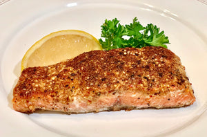 Coriander and Mustard Crusted Salmon