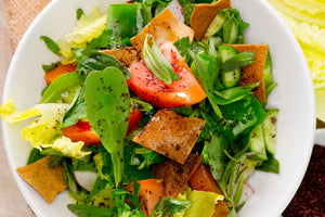 Fattoush Salad with Sumac Dressing
