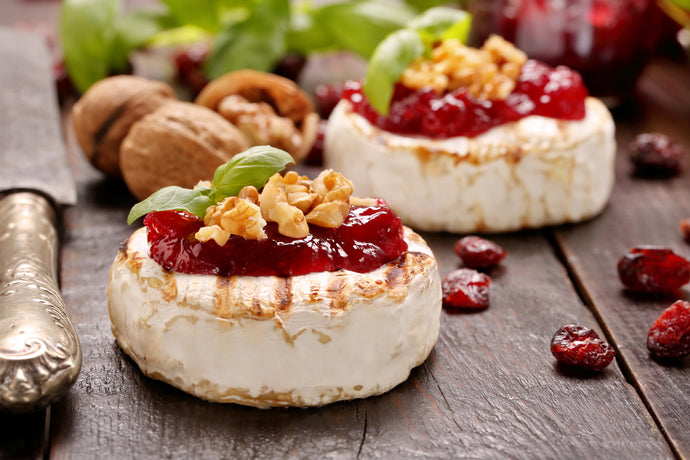 Grilled Camembert with Spicy Cranberry Sauce