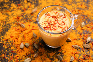 Hot Turmeric Saffron Milk