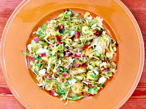 Roasted Shredded Brussels Sprouts with Coriander and Mustard