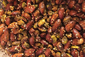 Middle Eastern Za'atar Spiced Nuts are pleasingly savory with a slightly spicy and slightly smoky saltiness.