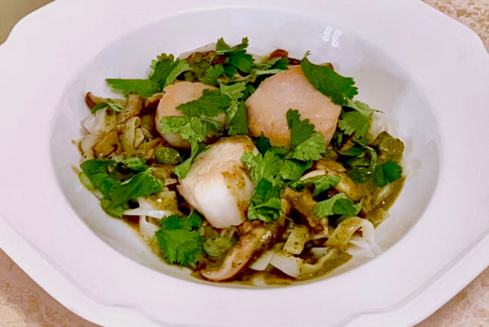 Sea Scallops with Thai Coconut Curry