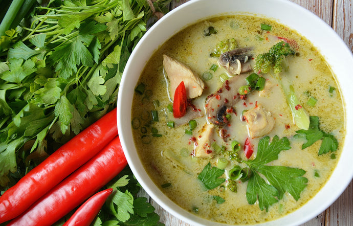 Easy Thai Coconut Green Curry Soup