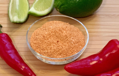 Chipotle Seasoning Dry Rub bursts with a bold lime fragrance, followed by the more nuanced pungency of warm chipotle spiciness. This seasoning blend is beautiful to behold on grilled or fried meats where the fragrant citrus aromatics blend with a zesty heat on the palate.