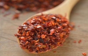 Aleppo Pepper flakes are deep ruby-colored pepper flakes that emit the fruity scent of freshly picked sweet peppers in the midday sun. Once on the tongue, the initial taste of sun dried tomatoes is followed by a pleasantly mild, lingering burn that is sure to put a smile on the most discerning pepper lover's face.
