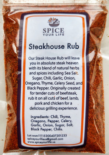 Steakhouse Rub 1/2 cup (soft pack)