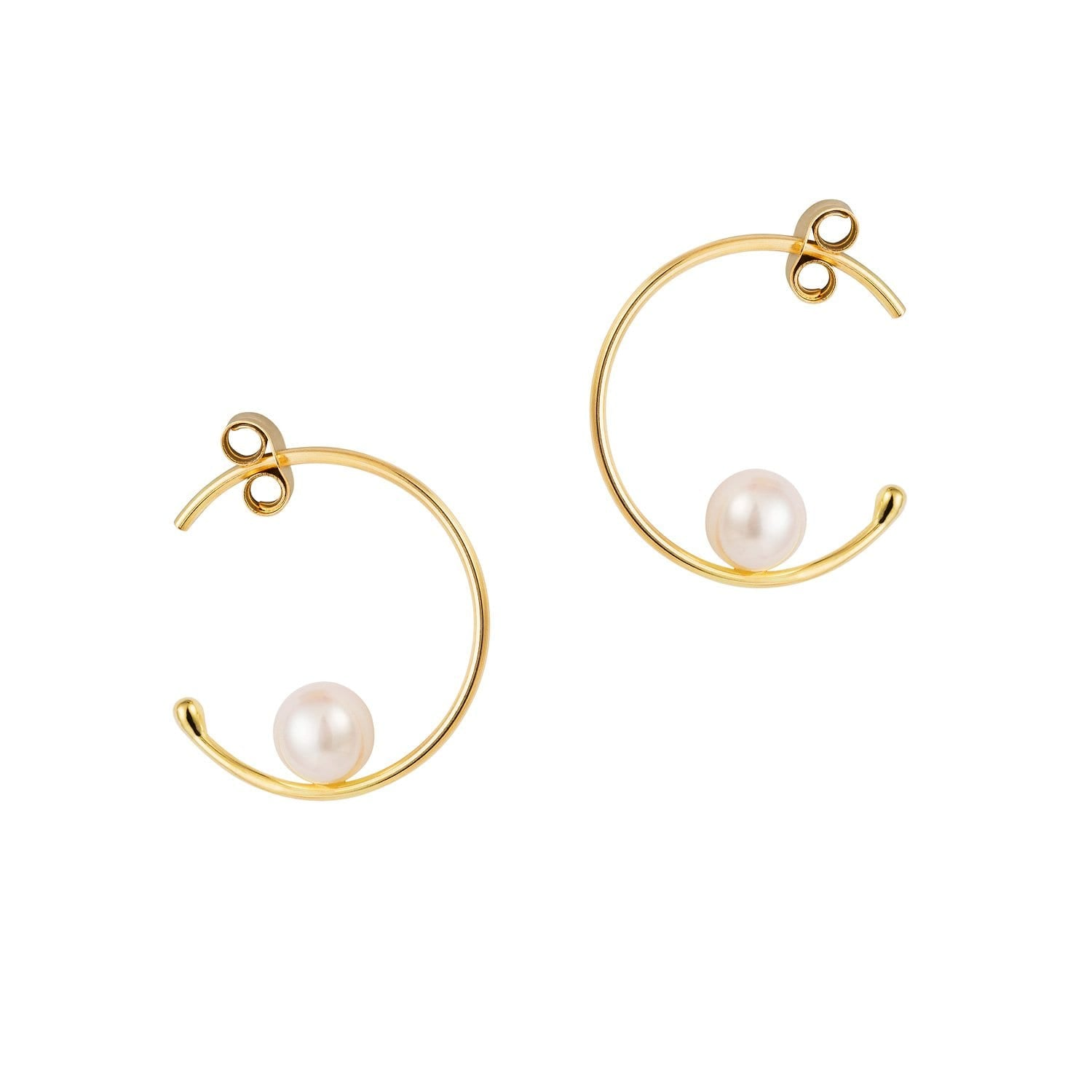 Vincents Fine Jewelry | Sweet Pea | Baby Pearl Hoops