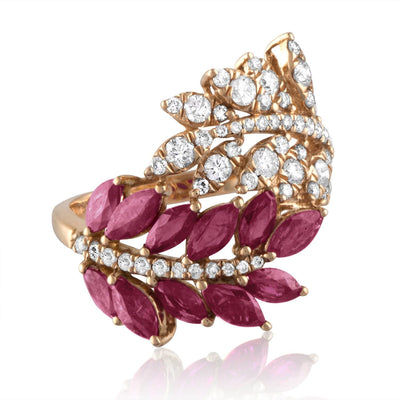 Vincents Fine Jewelry | Jane Kaye | Double Leaf Ruby Ring