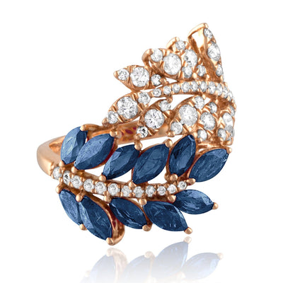 Vincents Fine Jewelry | Jane Kaye | Double Leaf Sapphire Ring