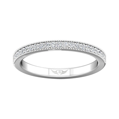 Vincents Fine Jewelry | Martin Flyer | Bead Set Micropave Bead Set Matching Wedding Band
