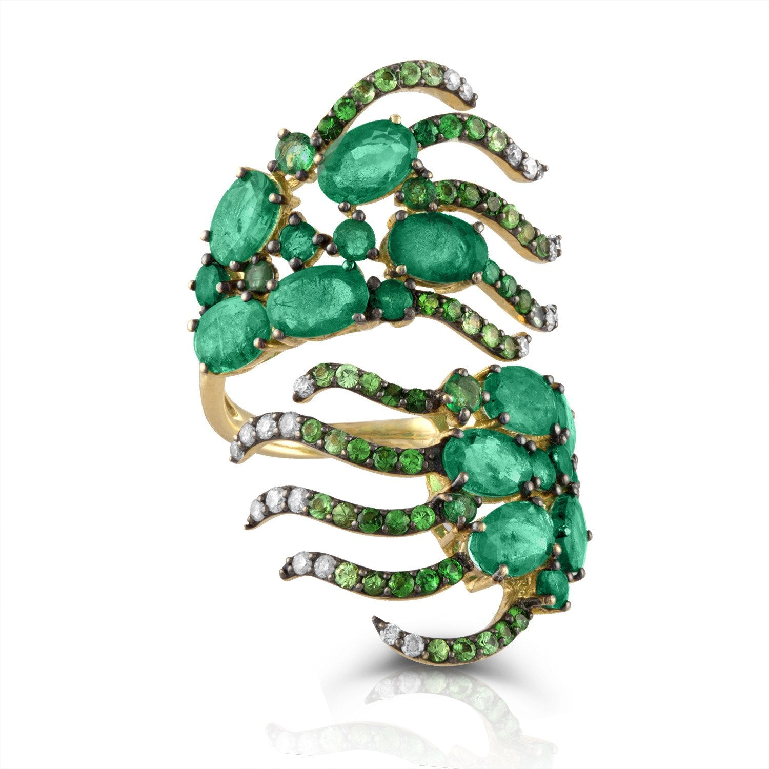 Jane Kaye | Emerald Wave Ring