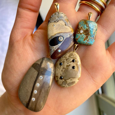 Vincents Fine Jewelry | Nessa Designs | Ancient Sands Pebble & Diamond