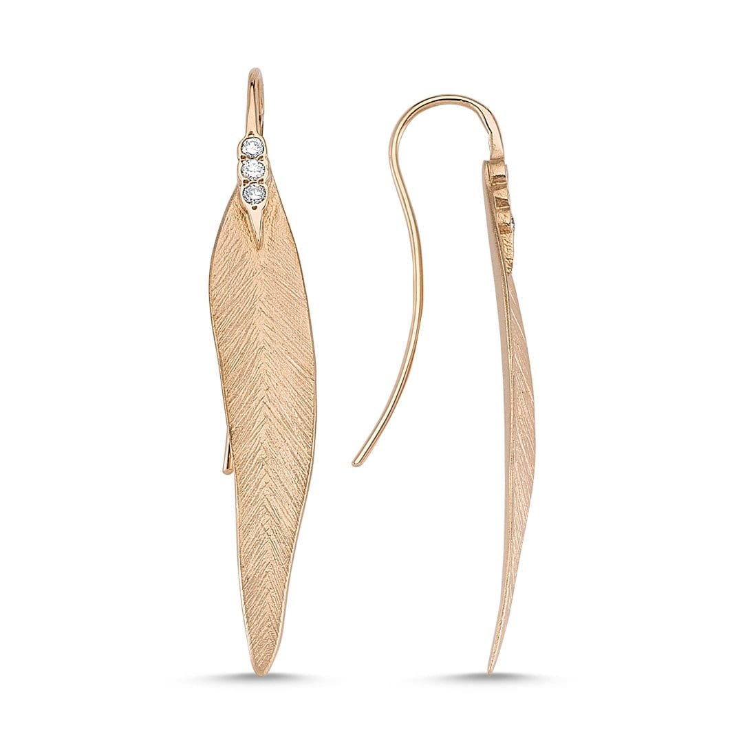 Vincents Fine Jewelry | Slender Leaf Drop Earrings | Own Your Story