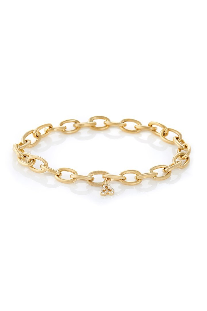 Small Oval Chain Link Bracelet in 18K Yellow Gold