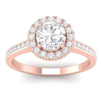 Vincents Fine Jewelry | Martin Flyer | Channel Halo Engagement Ring