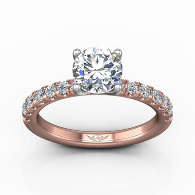 Vincents Fine Jewelry | Martin Flyer | Micropave Engagement Ring