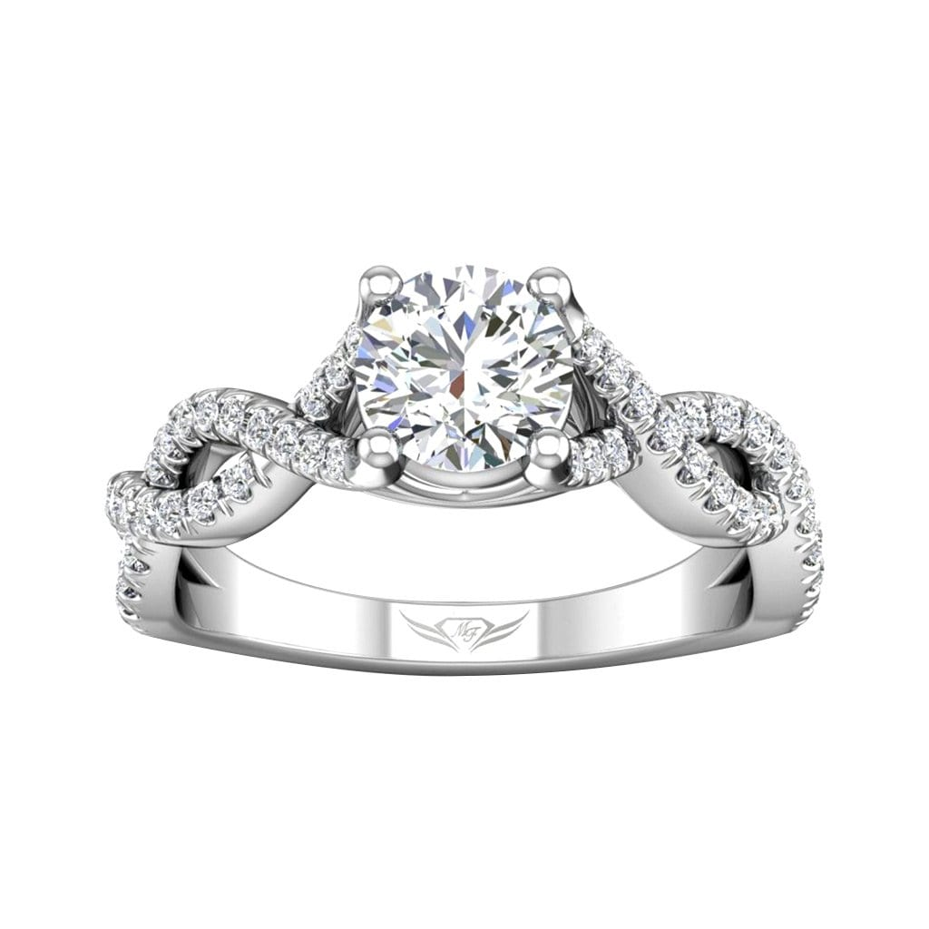 Vincents Fine Jewelry | Martin Flyer | Cutdown Micropave Halo Engagement Ring
