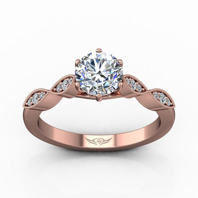 Vincents Fine Jewelry | Martin Flyer | Bead Set Micropave Engagement Ring